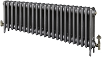 Eastgate Victoriana 3 Column 22 Section Cast Iron Radiator 450mm High x 1358mm Wide - Metallic Finish